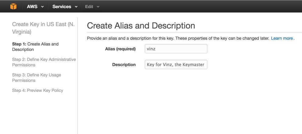 Create a key